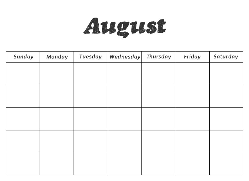 """Blank Monthly Calendar Kindergarten : Search results for """"blank outlook calendars august"""
