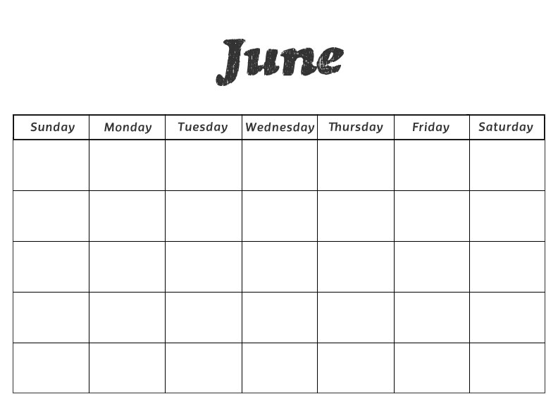 June Calendar Numbers For Preschool : Printable preschool calendars