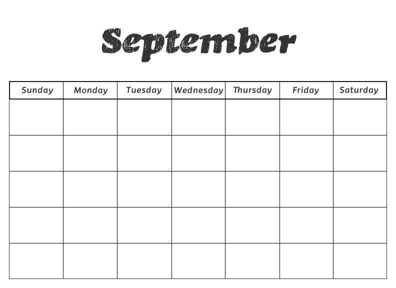 Calendar Printables For Preschool : Free blank printable monthly calendars new calendar